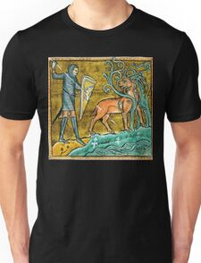 Medieval Knight slaying a Stag Unisex T-Shirt