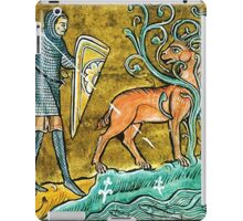 Medieval Knight slaying a Stag iPad Case/Skin