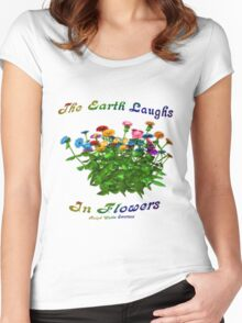 Flowers Inspirational Quote Women's Fitted Scoop T-Shirt