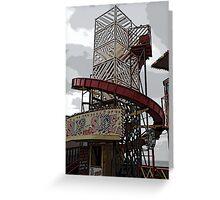 Ghostly Fairground Slide Greeting Card