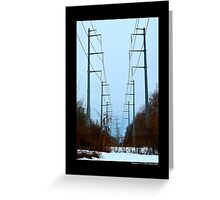 Transmission Towers Behind Nikola Tesla's Wardenclyffe Laboratory - Shoreham, New York Greeting Card