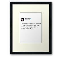 Comment of the month Framed Print
