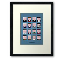 A study in Ted Framed Print