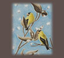 Goldfinch On Seed Pod Kids Clothes