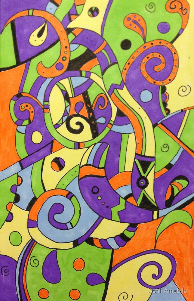 Colorfully abstract by Ashli Amabile