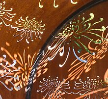 Rusted steel forms sunlit abstract patterns  by Stephen  Shelley