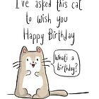 Cat birthday by twisteddoodles