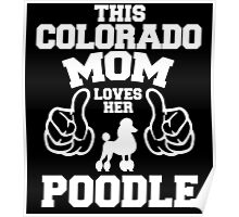 THIS COLORADO MOM LOVES HER POODLE Poster