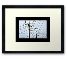 Transmission Towers Behind Nikola Tesla's Wardenclyffe Laboratory - Shoreham, New York Framed Print