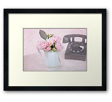 Retro Roses Framed Print