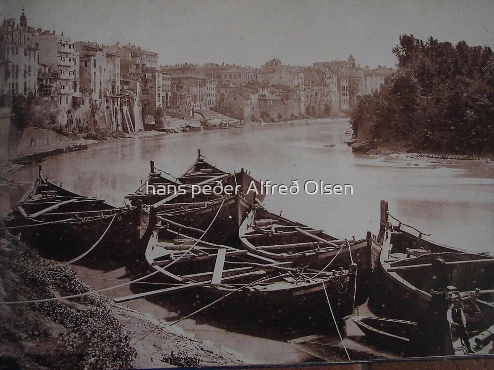 The River Tiber by hans p olsen