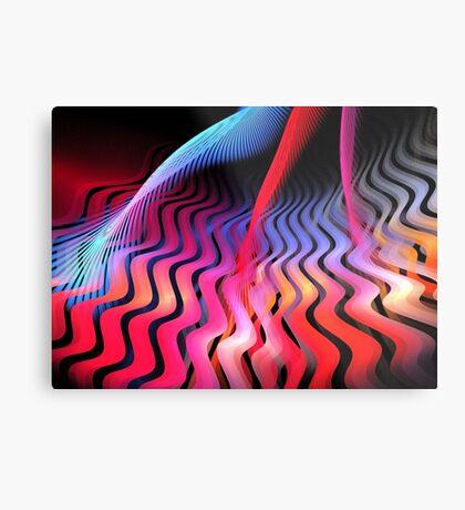 Ultraviolet Waves Metal Print