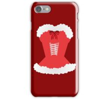red santa corset christmas corset Mrs Claus iPhone Case/Skin