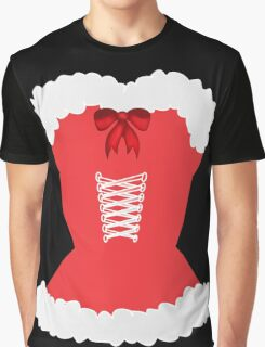 red santa corset christmas corset Mrs Claus Graphic T-Shirt