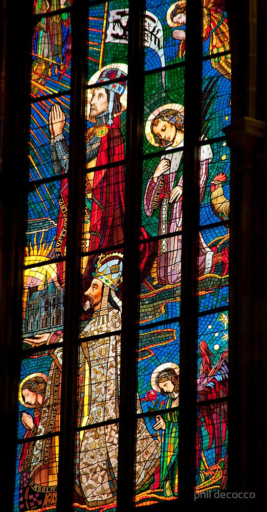 Stained Glass Adoration by phil decocco