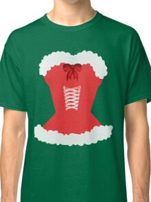 red santa corset christmas corset Mrs Claus Classic T-Shirt