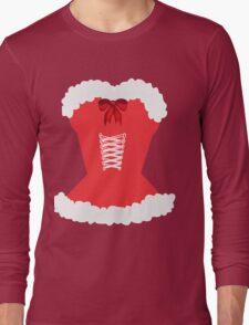 red santa corset christmas corset Mrs Claus Long Sleeve T-Shirt
