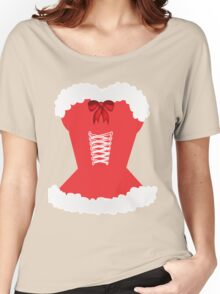 red santa corset christmas corset Mrs Claus Women's Relaxed Fit T-Shirt