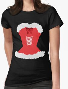 red santa corset christmas corset Mrs Claus Womens Fitted T-Shirt