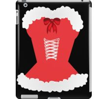 red santa corset christmas corset Mrs Claus iPad Case/Skin