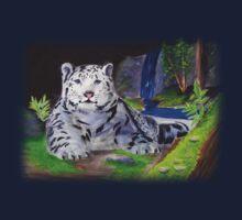 Snow Leopard One Piece - Short Sleeve