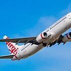 A Virgin Australia Boeing 737 Departs Adelaide Airport. by Nick Egglington