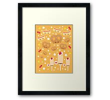Summer Snacks Framed Print