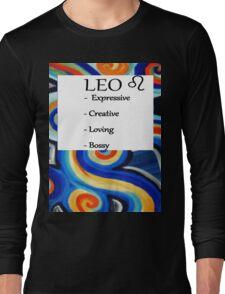 Abstract Leo Horoscope shirt Long Sleeve T-Shirt