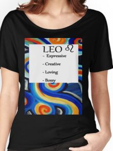 Abstract Leo Horoscope shirt Women's Relaxed Fit T-Shirt