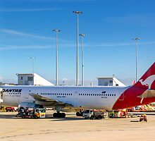 A QANTAS Boeing 767 At Melbourne Airport Australia. by Nick Griffin