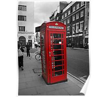 Red Telephone Kiosk Poster
