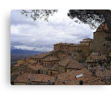 Volterra In The Rain Canvas Print