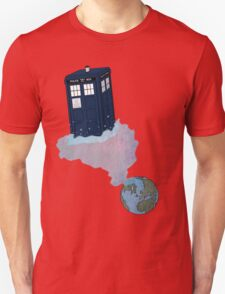 Tardis leaves Earth T-Shirt