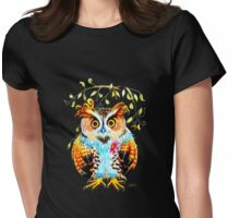 The most beautiful Owl Womens Fitted T-Shirt