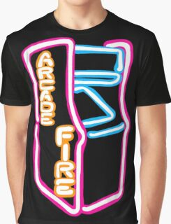 Arcade Fire Neon Graphic T-Shirt