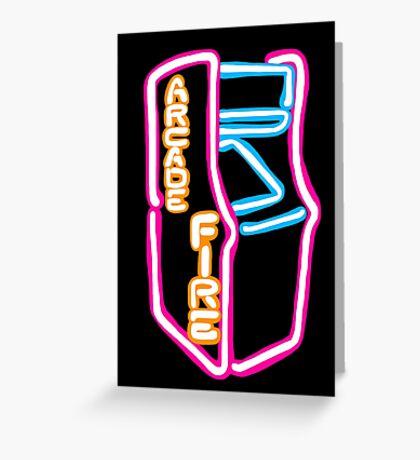 Arcade Fire Neon Greeting Card