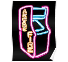 Arcade Fire Neon Poster