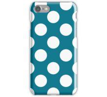 White dots on blue - retro style iPhone Case/Skin