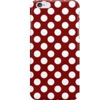 White dots on red - retro style iPhone Case/Skin