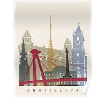Bratislava skyline poster Poster