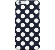 White dots on navy blue - retro style iPhone Case/Skin