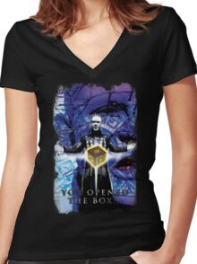 "Pinhead Hellraiser ""You Opened the Box..."" Women's Fitted V-Neck T-Shirt"