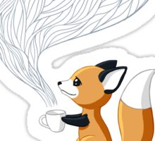 Fox Tea Sticker