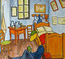 Art Giraffe- Bedroom at Arles by Sundayink