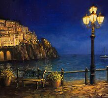 Summer Evening in Amalfi by kirilart
