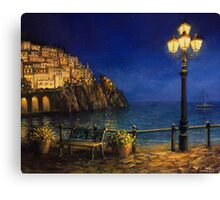 Summer Evening in Amalfi Canvas Print