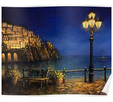 Summer Evening in Amalfi Poster