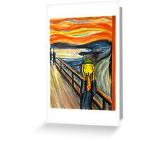 Art Giraffe- The Scream Greeting Card