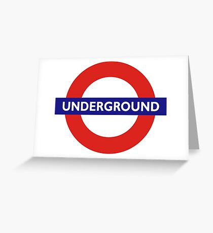 UNDERGROUND, TUBE, LONDON, GB, ENGLAND, BRITISH, BRITAIN, UK Greeting Card