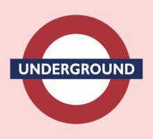 UNDERGROUND, TUBE, LONDON, GB, ENGLAND, BRITISH, BRITAIN, UK on BLACK One Piece - Long Sleeve